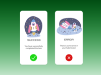 Alert messages(success & error)