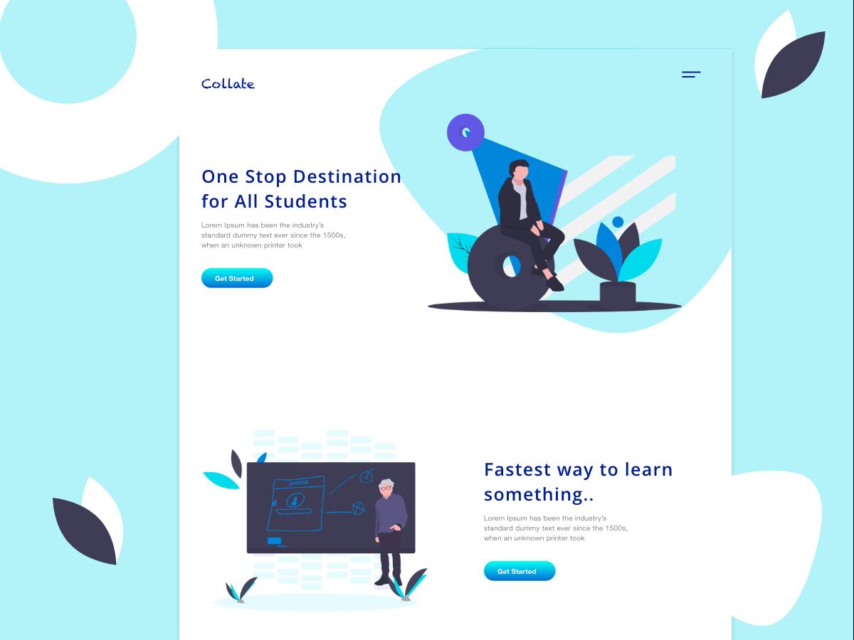 Collate design web uxdesign uidesign