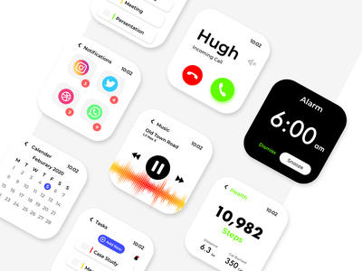 watch OS light theme app design app dashboad design uidesign user interface watch ui watchos watch