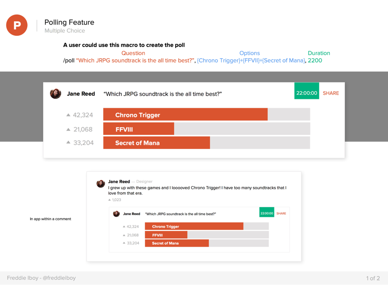 Product Hunt Polling Feature - Multiple Choice by Freddie