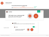 Product Hunt Polling Feature - Binary Choice