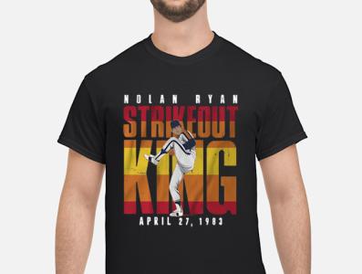 NOLAN RYAN STRIKEOUT KING T SHIRT
