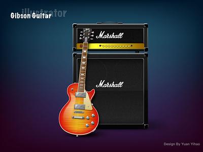 Gibson guitar guitar gibson illustration