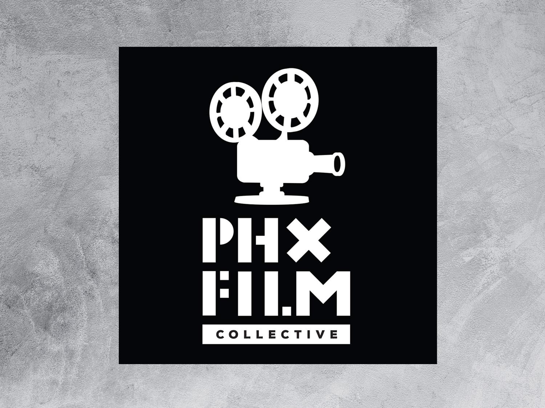 PHX Film Collective logo movie poster film poster entertainment movies community logo film cinema vector branding logo design