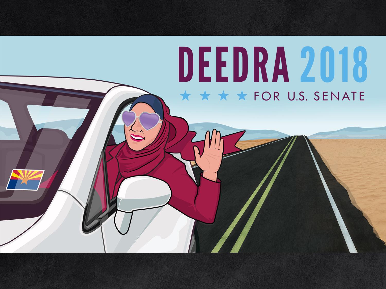 Deedra is Everywhere campaign politics political campaign politician political branding illustration logo design