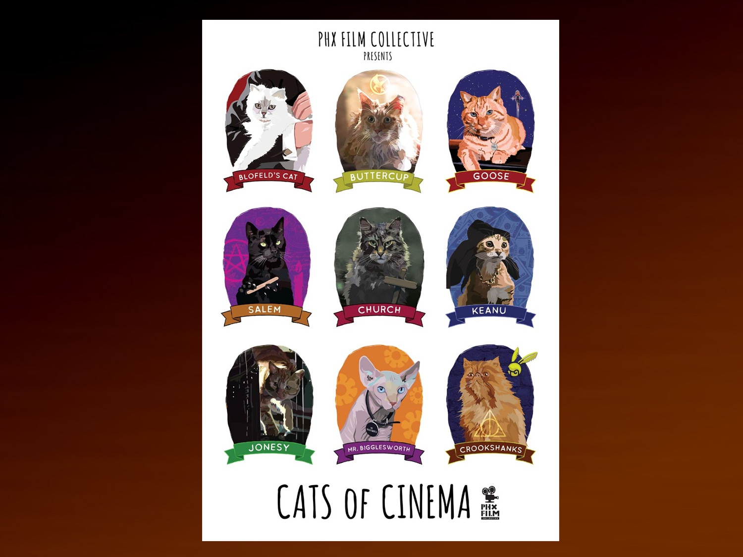Cats Of Cinema poster by Chris Ayers Creative on Dribbble