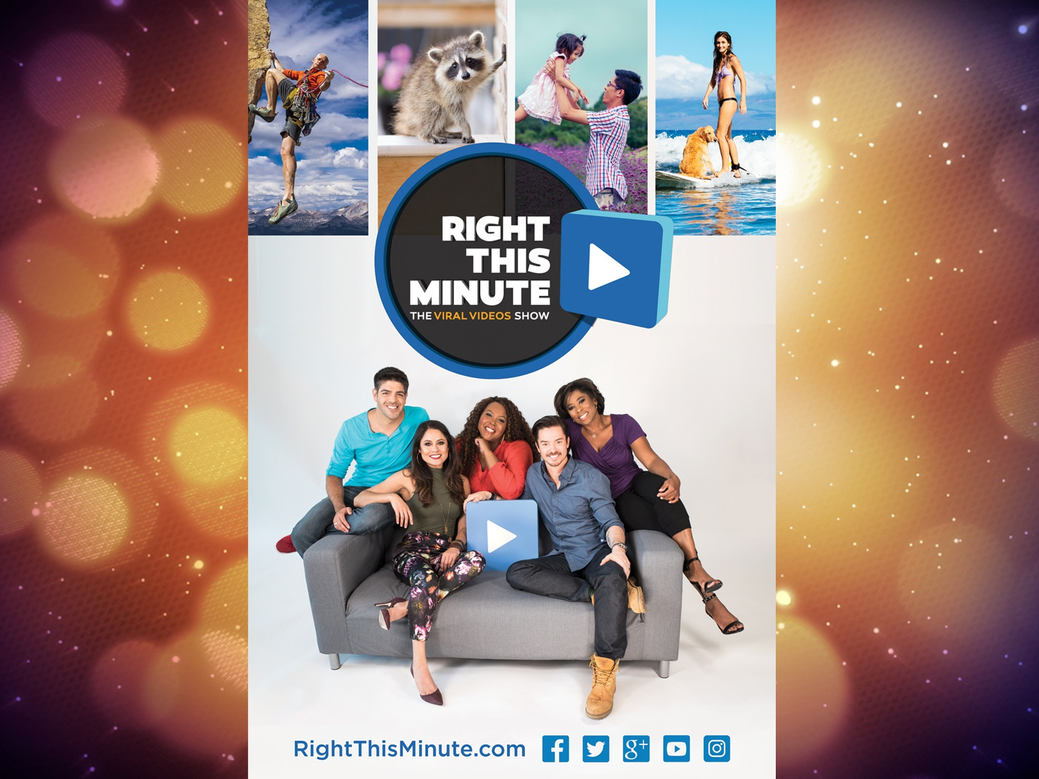RightThisMinute promo poster by Chris Ayers Creative on Dribbble