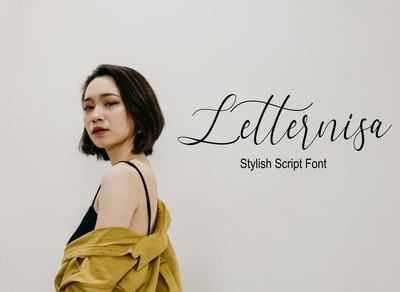 Letternisa Stylish Script Font Free