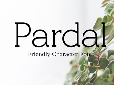 Pardal Friendly Character Font Free