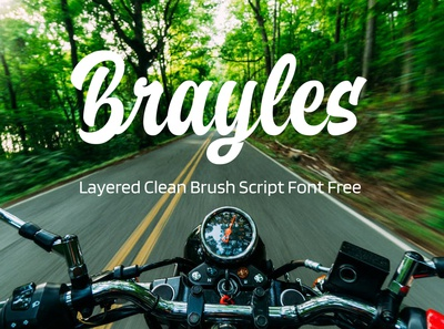 Brayles Layered Clean Brush Script Font Free