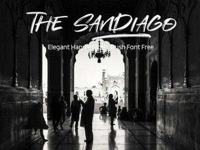 The Sandiago Elegant Handwritten Brush Font Free