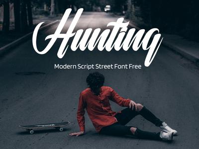 Hunting Modern Script Street Font Free