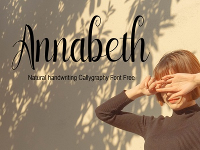 Annabeth  Natural handwriting Callygraphy Font Free
