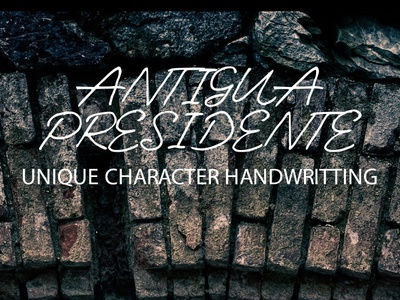 Antigua Presidente Unique Character Handwritting Font Free
