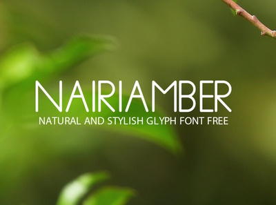 NairiAmber Natural and Stylish Glyph Font Free