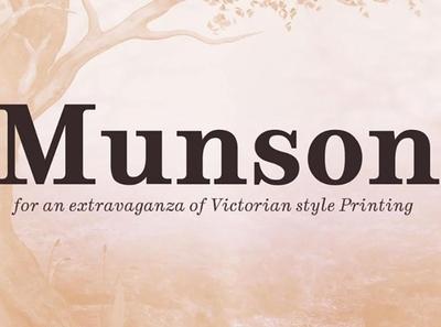 Munson Classic sans serif font Free