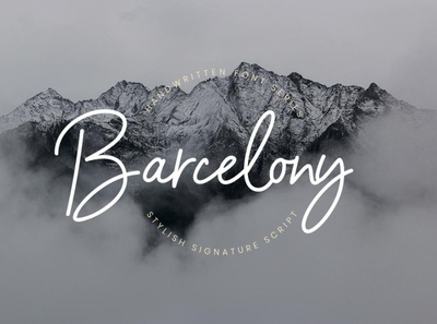 Barcelony Signature Elegant font Free