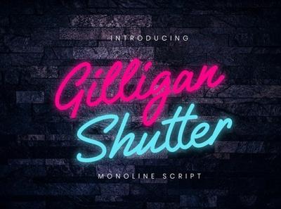 Gilligan Shutter Signature monoline bold font Free