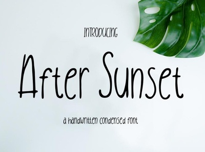 After Sunset Clean handwritten font Free