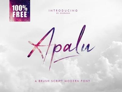 Apalu Brush script modern font Free