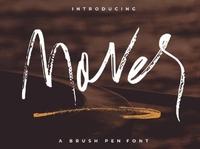 Mover Handwritten Textured brush font Free