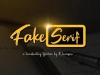 Fake Serif Modern dry brush Font Free