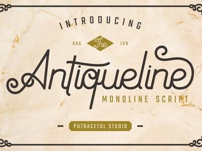 Antiqueline Free Script Font