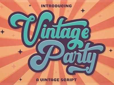 Vintage Party Free Bold Script Font