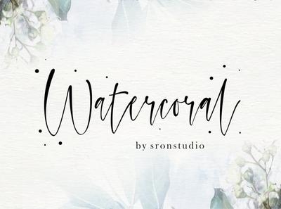Watercoral Free Natural Script Font