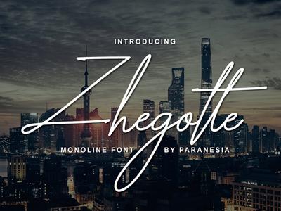 Zhegotte Free Script Font
