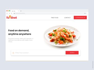 Foodnet Landing Page