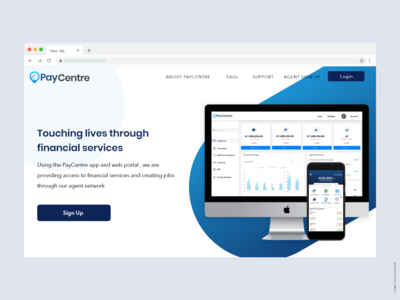 PayCentre Landing Page