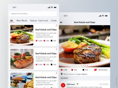 UI EXploration: Food Review Application