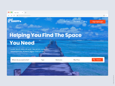 Plannr - A Travel Landing Page Design