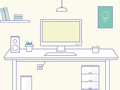 Office Flat Design Illustration