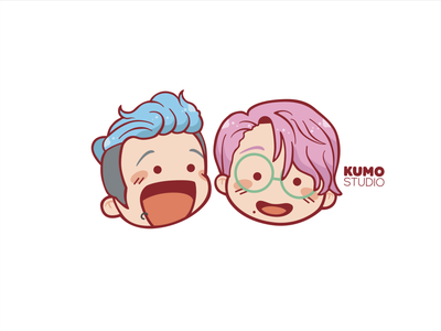 Kumo Studio Team rebound stationary stickermule