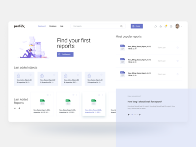 Dashboard concept design report manager