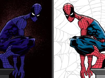 Spideys spiderman comic drawing coloring vs stan lee peter parker