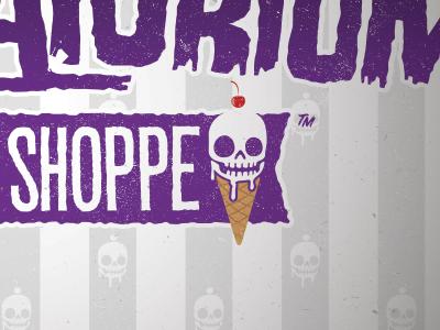 The Creamatorium Ice Cream Shoppe fun business branding morbid ice cream bright