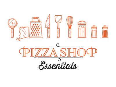 Pizza Shop Essentials pizza shop icons fun essentials minimal wireframe