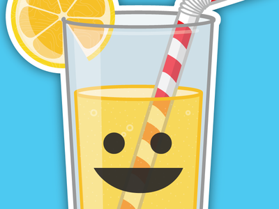 Refreshing Lemonade yum summer sticker lemonade illustration fun food-with-a-face cute