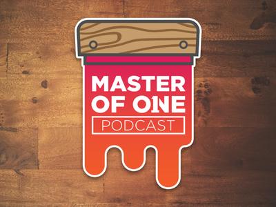 Silkscreen Stickers silkscreen mof1 master of one podcast stickers