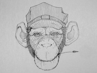 Inked Conductor Monkey