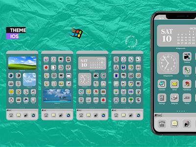 Windows 95 theme for IOS theme ios ui design
