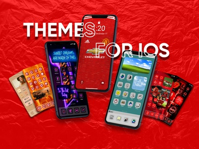 IOS Themes flat illustrator art web ios app icon vector branding theme ui illustration design