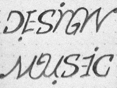 Design Music Ambigram ambigram typography design sketch wip