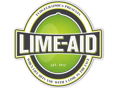Lime-Aid Logo logo drink sticker print vintage retro packaging beer bottle label