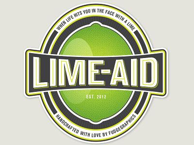 Lime-Aid Logo v2 vintage logo print retro beer bottle drink label packaging sticker