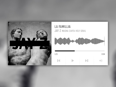 Music Player UI jay z freebie design web psd music player ui
