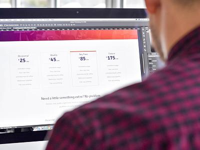 Coworking Website tables pricing ui web website coworking